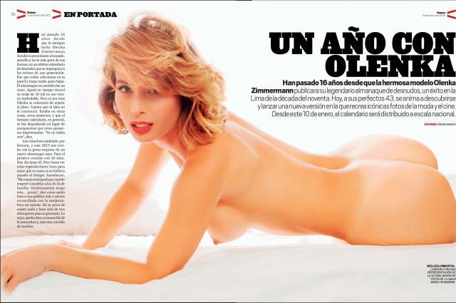 Olenka Zimmerman Desnuda Calendario 2013   (5)