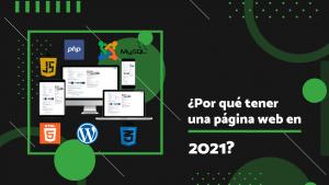 página web en 2021