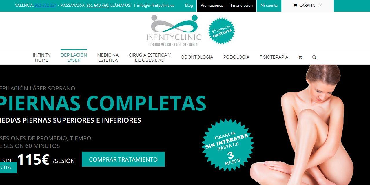 Diseño web Valencia para clínica