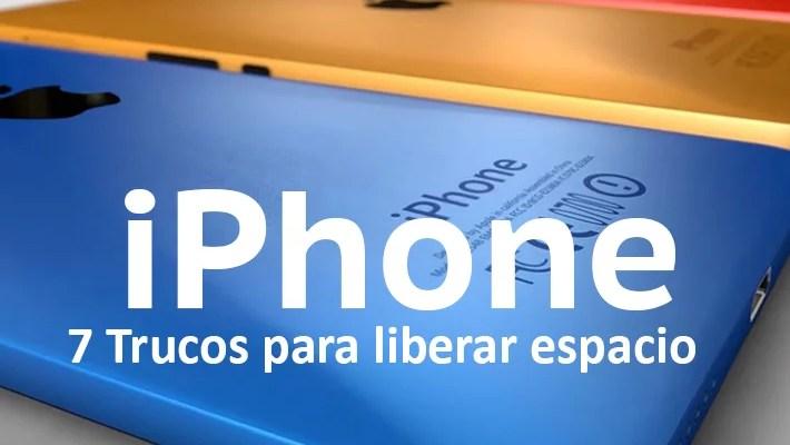 Liberar espacio en el iPhone
