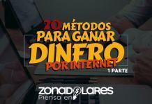 20 formas para ganar dinero por internet