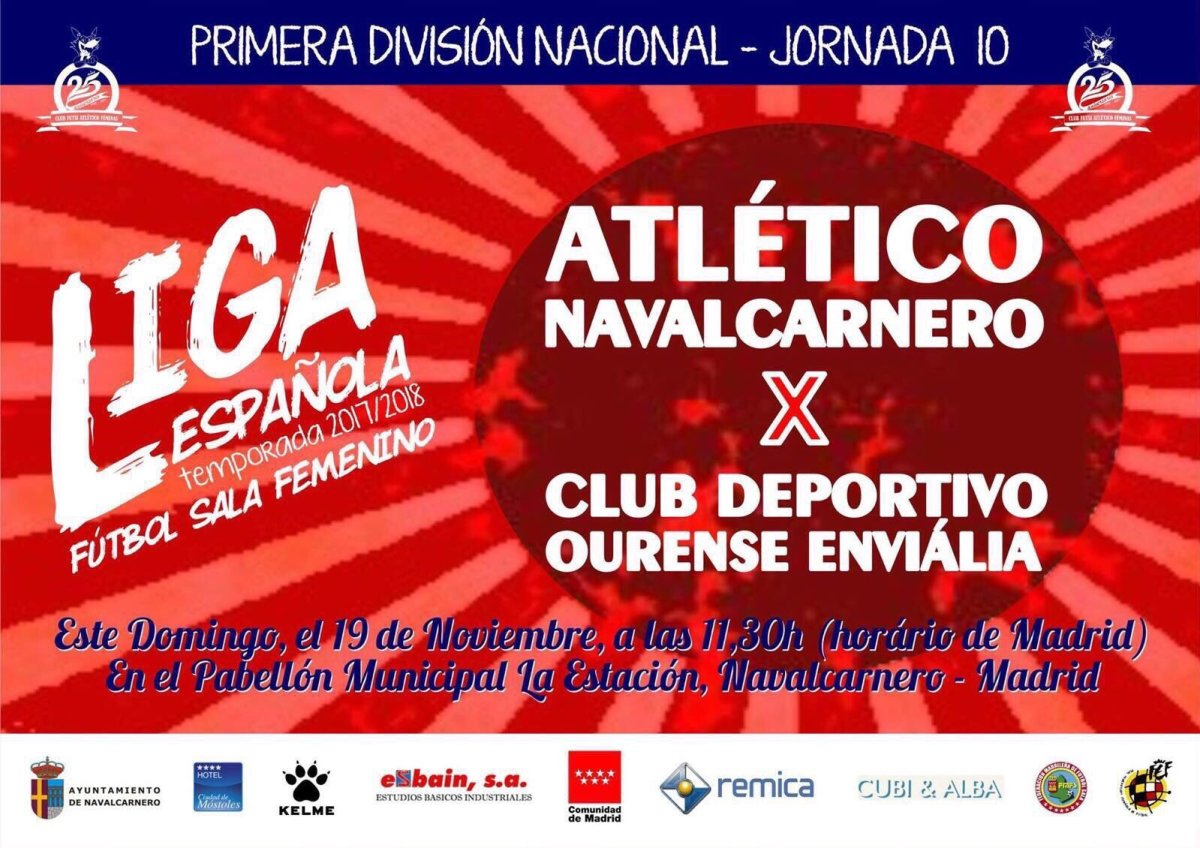 Futsi Atletico Navalcarnero Vs Ourense Envialia FSF Jornada 10