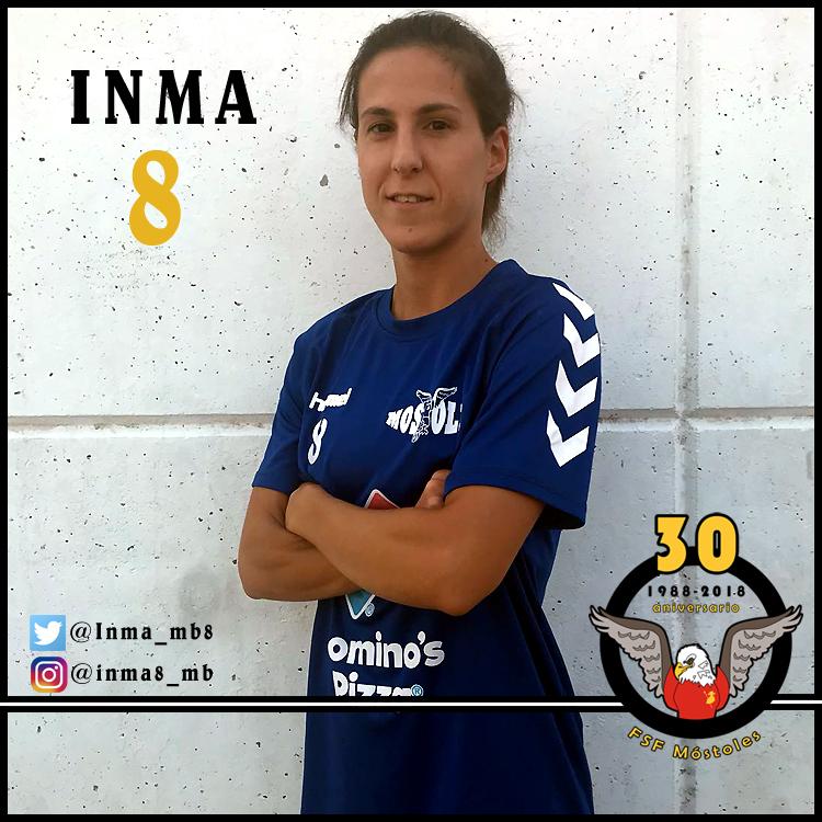 """Inma (FSF Móstoles): """"La victoria del sábado pasado debe reforzarnos más como equipo y ver que podemos plantar cara a cualquiera."""""""
