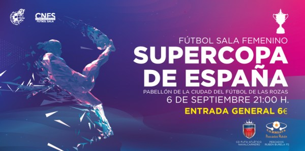 Emisión en directo por streaming la XVII Supercopa de Fútbol Sala Femenino