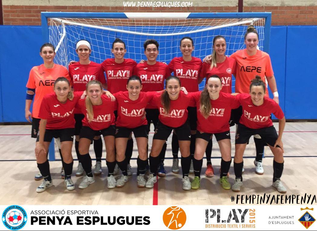 La A.E. Penya Esplugues, campeona de la Copa Catalunya sénior femenina de fútbol sala