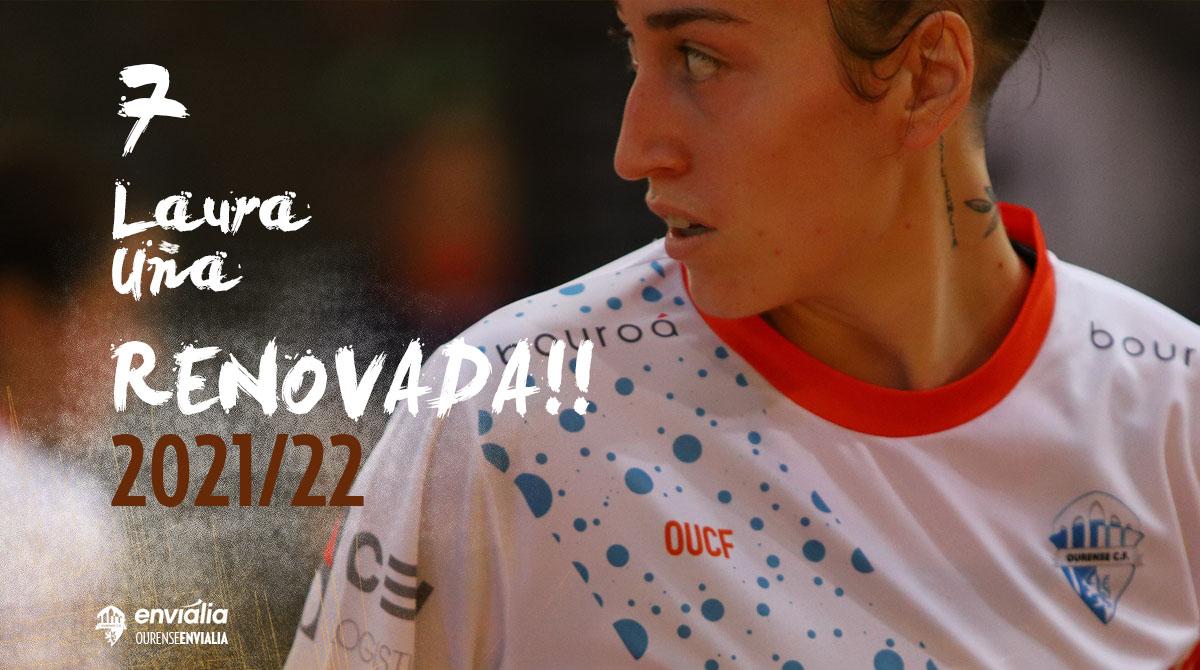 Laura Uña renueva dos temporadas con Ourense Envialia FSF