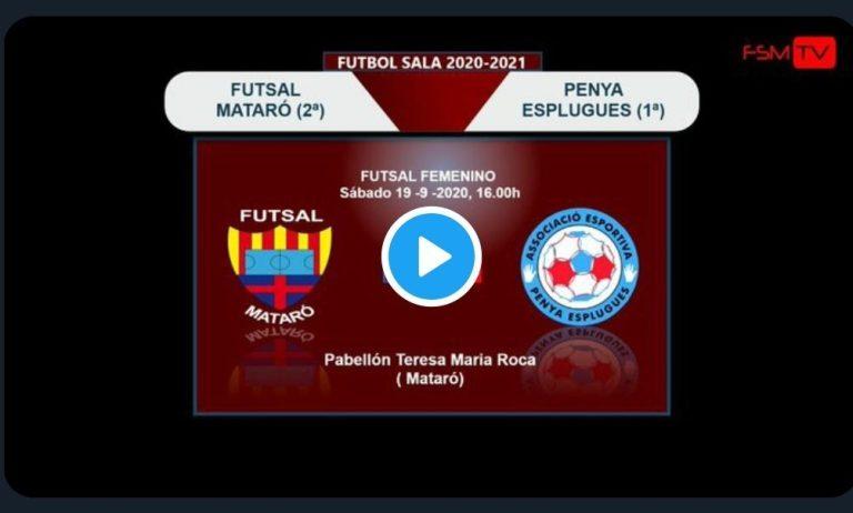 Partido Amistoso de Pretemporada entre dos equipos de 2ª División: Futsal Mataró A / AE Penya Esplugues B