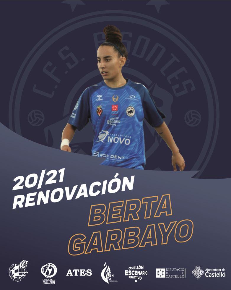 Berta Garbayo renueva por Bisontes Castellón FSF