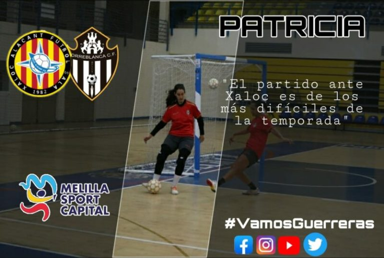 """Patricia Alarcón (Jugadora de MSC Torreblanca FS): """"El partido ante Xaloc es de los más difíciles de la temporada"""""""