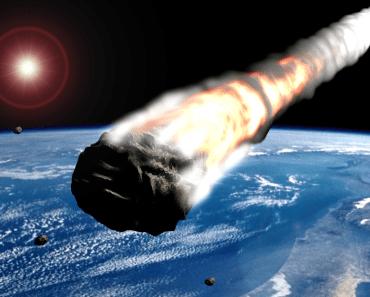 Asteroide pasando cerca de la tierra