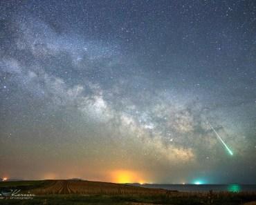 Meteoro en la Vía Láctea