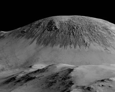Rayas estacionales que indican flujos recientes de agua en Marte