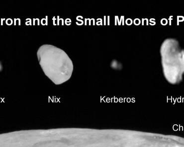 Caronte y los pequeños satélites de Plutón