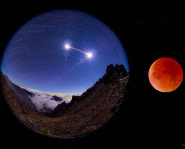 Secuencia del eclipse en La Palma
