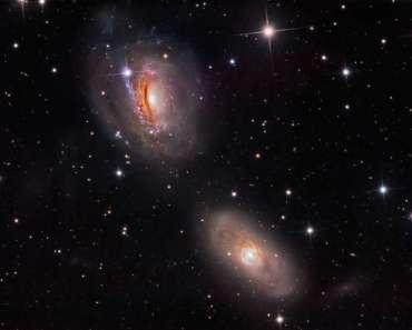 NGC 3169 desintegrándose