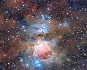 El polvo de la nebulosa de Orion