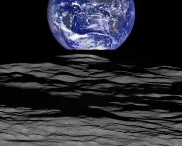 Puesta de la Tierra desde la Lunar Reconnaissance Orbiter