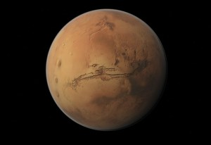 Valles Marineris is the long gash on Mars' surface