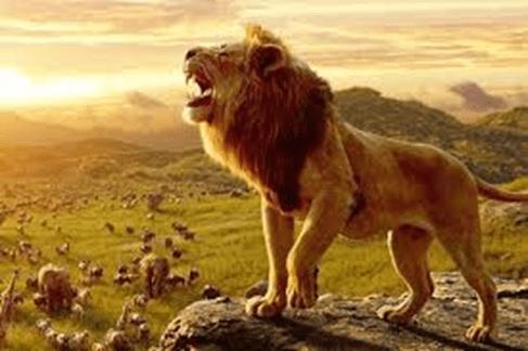 Simba The Lion King roars