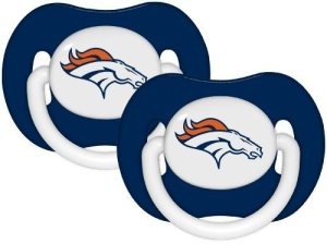 Baby Fanatic Pacifier (2 Pack) – Denver Broncos équipe Colors By Baby Fanatic