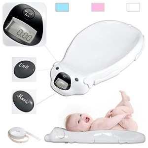 Babyfield – Pèse bébé électronique Blanc – Balance avec option musicale et mémoire intégrée