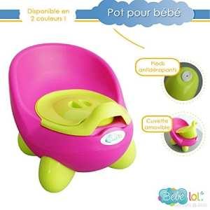 Bébélol à Pot bébé toilette bébé aux couleurs vives ! Coloris au Choix (rose)