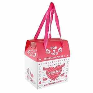 Gift Pack Coeur Imprimer mariage de papier de bricolage Box Case Blanc Rouge