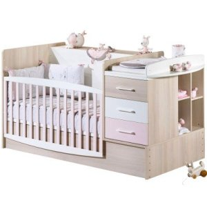 Lit chambre 70×140 transformable Milk rose – Sauthon Meubles