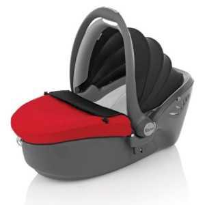 Römer 96351000–Chaise de voiture Baby Sleeper Groupe 0, couleur rouge rouge/noir