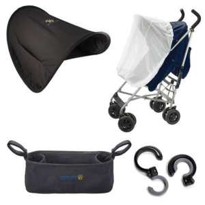 Sunshine Kids Shade Maker Canopy Pack for Strollers, Black/White (Discontinued by Manufacturer) by Sunshine Kids