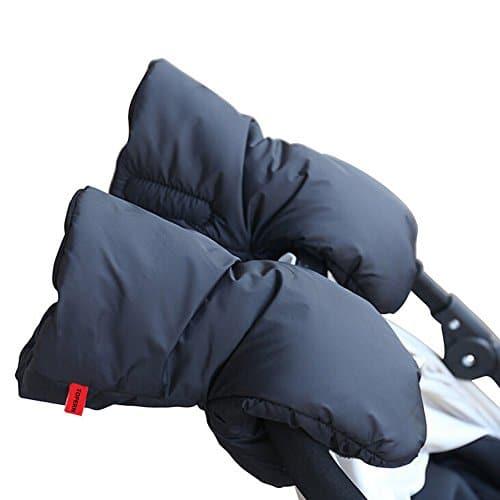 manchon en molleton avec poche pour t/él/éphone portable poussette de poussette pour b/éb/é landau guidon imperm/éable coupe-vent gant chauffe-main. Househome Gants de poussette de poussette de b/éb/é
