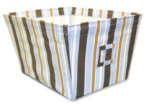 Trend Lab 101647 Grand Fabric Storage Bin-Max Stripe serg- couvert Wire Frame