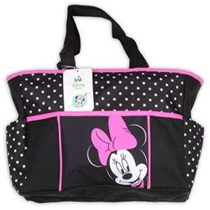 Minnie Mouse petit Sac Noir et Rose Polka Dot Sac à langer