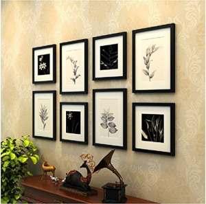 Simple Noir–Blanc–Photo–Mur en fleurs