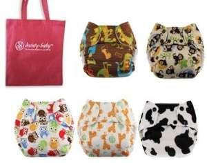 SwaddleBees Simplex Taille Chiffon Lot de 6couches pour couleurs neutre, avec Dainty réutilisable de sac pour bébé