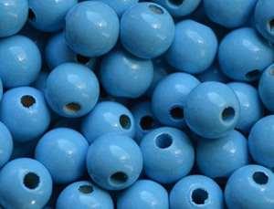 Lot de 10perles en bois perles rondes perles 8mm, idéal pour bricolage pour tétine Chaînes, greiflinge, etc.