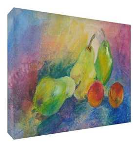 Feel Good Art Toile aux Couleurs Vives Appartenant de l'Artiste Val Johnson Fruit 115 x 78 x 4 cm Taille XXL