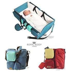 Royal Kiddy Londres© 3en 1pliable pour bébé Sac de voyage comme sac à langer, sac à couches Sac Nursery, & couffin (Bordeaux)