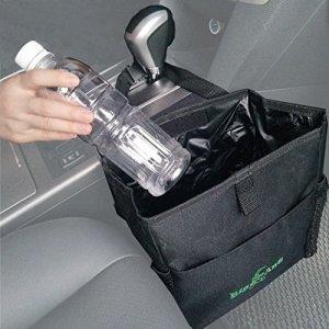 étanche de voiture Sac poubelle Peut pour Little anti-fuite–Voiture Garbage Sac avec poche latérale (Noir)