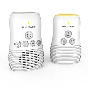 Babyphone Audio Écoute Bébé avec Communication Bidirectionnelle, Veilleuse de Nuit Apaisante, Microphone Sensible, Indicateur de Voix, de Portée & de Batterie Faible, Mode Smart ÉCO -Willcare