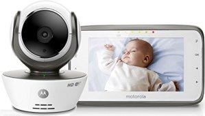 Motorola Babyphone Vidéo connecté Wi-Fi avec écran 4,3″ – MBP854 Connect Blanc