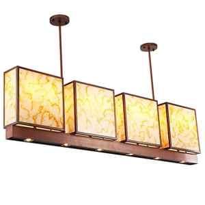 Wcui Grand lustre Moderne Nouveau style rectangulaire style chinois Lampes d'ingénierie de l'hôtel Antique Restaurant Lights 8 Head E27 Sélectionnez ( Couleur : #1 )