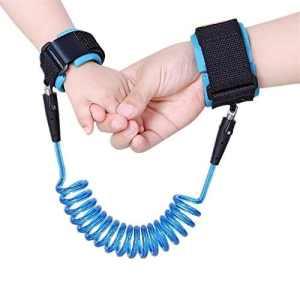ILOVEDIY Bracelet Anti Perte de Sécurité Enfant Harnais de Sécurité Poignet Bracelet 1,5 Meters (Bleu)