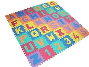 Neuf Grande taille 40PC en mousse lettres de l'alphabet enfant doux Jeu de puzzle numéros de tapis de l'apprentissage