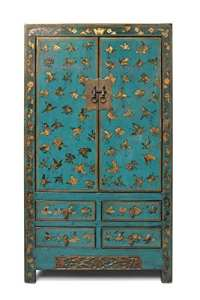 Asien Lifestyle Armoire chinois mariage cabinet meuble asiatiques chine papillon