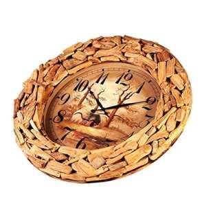 DIDIDD Salon créatif Chambre Horloge bois / Horloge mode,A,26 pouces