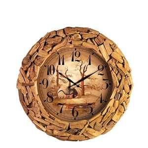 HOMEE Salon créatif Chambre Horloge bois / Horloge mode,A,26 pouces