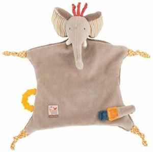 MOULIN ROTY – Doudou attache tétine éléphant Les Papoum de