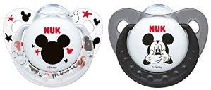 Nuk Disney Mickey silicone lot de 2sucettes à forme orthodontique encore zahnfreundlicher,
