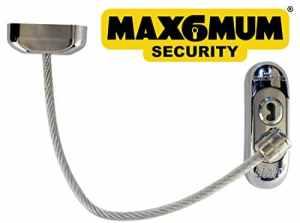 50X Chrome Max6mum Sécurité verrouillable pour bébé et enfant fenêtre et porte de sécurité avec câble clair à